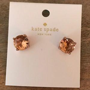 NWT Kate Spade Light Peach/ Rose Gold Stud Earring